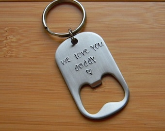 personalized key chain - gift idea for guys - custom gift for dad