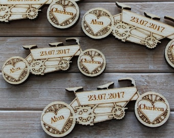 Daisy Daisy Bicycle made for two tandem PERSONALISED Wedding & Party Table Confetti Scatter Favours