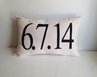 Special date pillow- wedding, anniversary, birthday, adoption day