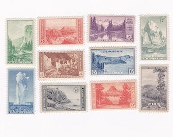 1934 Mint National Parks Early US Postage Stamps