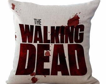 Walking Dead Pillow Case Rick Daryl Dixon Carl Carol Glen Maggie Zombie Pillows Cover 18 x 18 Walking Dead Gift