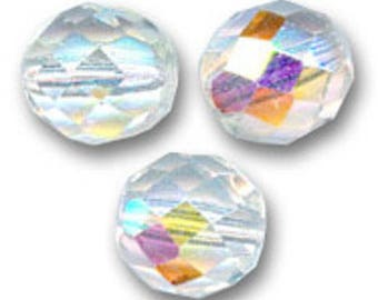 Facets of Bohemia 8 mm: 15 AB crystal beads