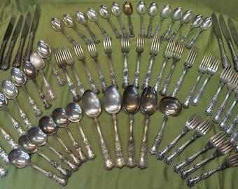 Gorham Sterling Silverware Set Buttercup (1899-1950) 67pc & 1940s silverware | Etsy