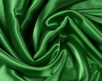 Polyester Satin Fabric Jade Green Fabric Upholstery Fabric Meter Fabric Apparel Fabric Bridal Fabric Fashion Fabric Clothing Craft Supplies