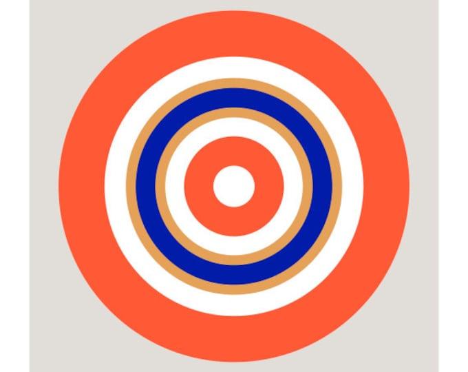 Around in Circles No. 6, Original Art Print, Geometric, Abstract, Target