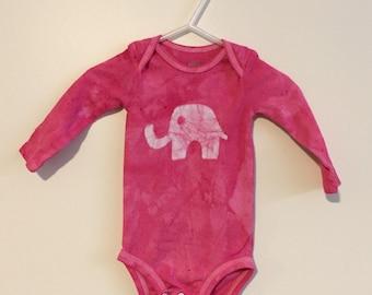 Elefanten Baby-Geschenk, Elefanten-Baby-Body, Pink Elephant Body, Baby-Dusche-Geschenk, Baby-Mädchen-Geschenk, Rosa Baby-Geschenk (3-6 Monate)