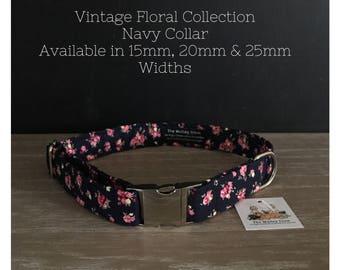 VINTAGE FLORAL Dog Collars