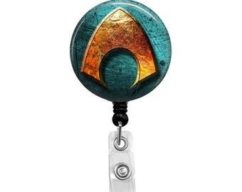 Aquaman - Badge Reel Retractable ID Badge Holder