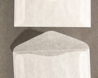 Glassine Envelopes size #4 translucent paper perfect for postage stamps