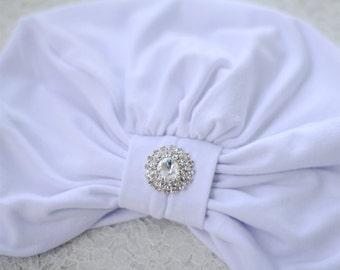 White Turban -  Kundalini Yoga Turban - Hair Turbans for Women - Jersey Knit Head Covering - White Turban Headwrap - Lots of Colors