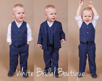 Wedding boy suit Boy wedding outfit Ring bearer suit Wedding