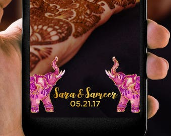 South Asian Elephant Indian Wedding Snapchat Filter
