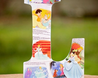Cinderella - Disney Princess Book Inspired Decorated Letters