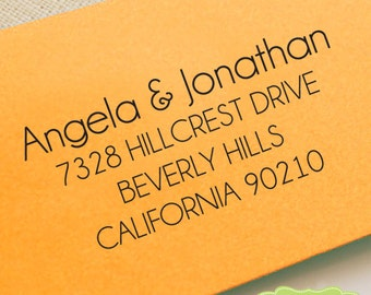 CUSTOM address STAMP from USA, pre inked stamp, Wedding Stamp, rsvp stamp, return address stamp with proof - Custom Address Stamp b5-61