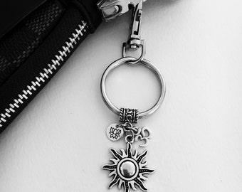 Sun purse charm/Yoga purse charm/zen charm/Om/spiritual purse charm/ohm/ meditation/yoga/lotus flower/sun