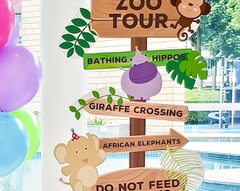 DIGITA FILE Safari Sign Post, Zoo Sign Post, Animals Sign Post, Zoo Signage, Zoo Sign, Zoo Tour Sign