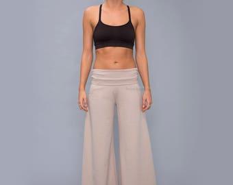 Bell bottoms  Yoga pants for women  - Wide leg cotton pants - maternety