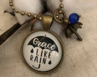 "Pendant Necklace ""Grace like Rain"""