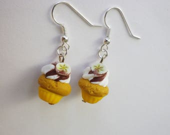 original earrings gourmet chocolate gift banana cupcake Christmas
