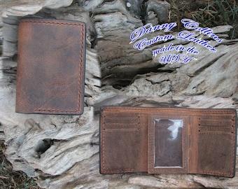 Buffalo leather Tri fold wallet