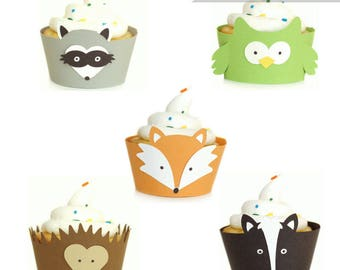 Bos dieren - Cupcake Wrappers