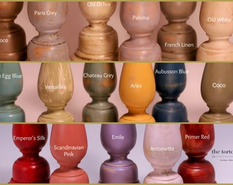 Select Your Color/Size Wood Candlesticks Hand-Painted in Annie Sloan Chalk Paint