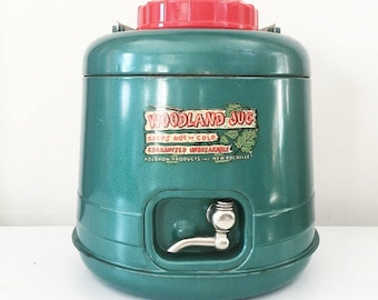 Vintage Green Woodland Jug Thermal Water Dispenser by Poloron Products with Original Box
