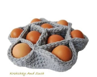 Egg Basket, Super Chunky, Easy And Quick, Crochet Pattern. PDF Instant Download.