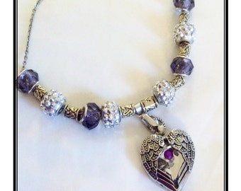 Baltimore Ravens inspird Jewelry  necklace all inspired