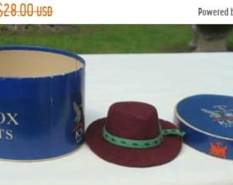 ON SALE Vintage Salesman's Sample Men's Hat Knox with Original Box Vintage Hat Miniature Hat