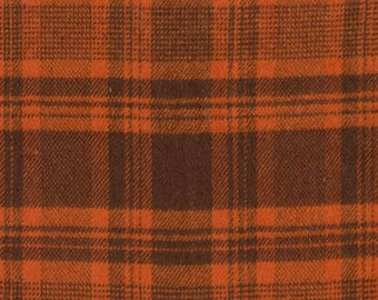 Rust and Brown Plaid Flannel Fabric-Yarn Dyed Flannel-Marcus Brothers-Fall Fabric-Fall Flannel Fabric-Rust Plaid Flannel-Fall Plaid Flannel