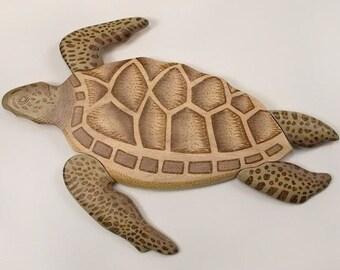 Swimming Sea Turtle Wall Art - CW648