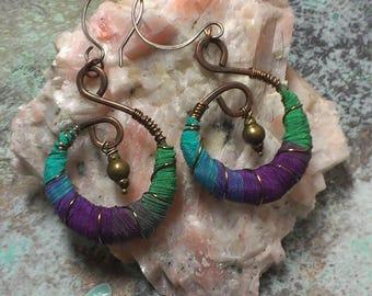 Silk Wrapped Earrings