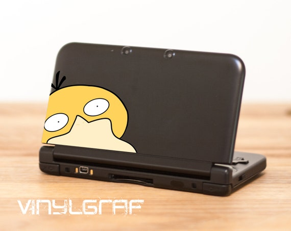 Psykokwak Pokemon Sticker Autocollant Pour Nintendo 3ds Xl