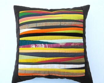 Cushion Quilted Pillow  Designers Pillow Case Colorful   Pillow Case Patchwork Pillow Cover Cushion Cover Pillow Cover Padded Pillow Case