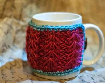 Crochet Mug Holder Knitted Tea Cozy Cup Sweater Handmade Gift Tea Cup Warmer Coffee Mug Holder Handcrafted Gift