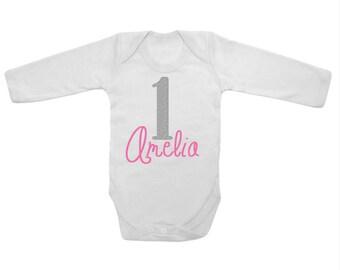 Personalised Babys 1st Birthday Vest
