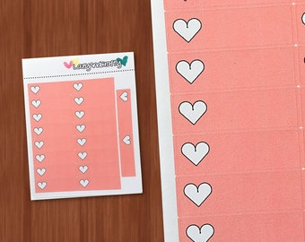 Heart quarter box - Checkbox - Planner stickers for Erin Condren, Happy Planner, filofax, and much more!