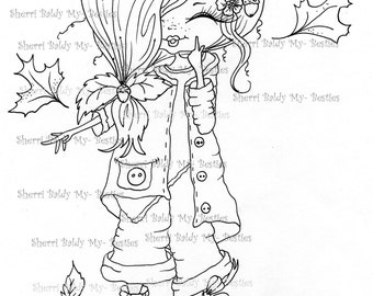 INSTANT DOWNLOAD Digital Digi Stamps Big Eye Big Head Dolls Digi  My Besties TM Img426  Valentine By Sherri Baldy