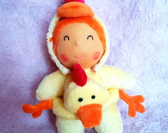 cuddly baby Hoodie tipoupidou range Ding-Dong buoy chick rattle
