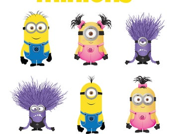Minions svg files,svg files for silhouette,svg files for cricut,minion clipart,SVG files,png files