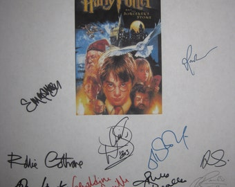 Harry Potter and the Sorcerer's Stone signed Script Screenplay x19 Autographs Daniel Radcliffe Emma Watson J. K. Rowling Alan Rickman