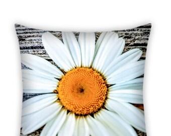 Daisy Pillow, Daisy Photo Decorative Pillow, Home Decor, Floral Decor