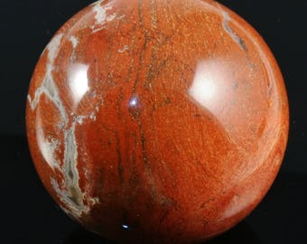 Red Jasper Sphere, 1.99 inches in diameter, weight: 184.1 grams