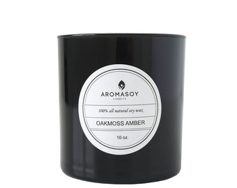 OAKMOSS AMBER Soy Candle / Masculine / Gift for Him / Natural / Home Decor / Minimalist / Fathers Day / Handmade / Men Candles
