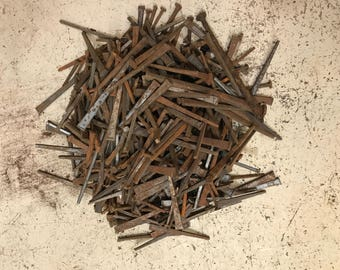 Antique Rusty Metal Nails for Found Object Art, Assemblage, Sculpture