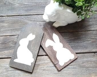 Easter Sign, Bunny decor, Rabbit Decor, Easter decoration, Spring signs, Springtime decorations, Rustic Signs, Rustic Decor, Home Decor