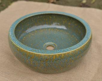 TheOne Handmade porcelain vessel sink, Rain forest