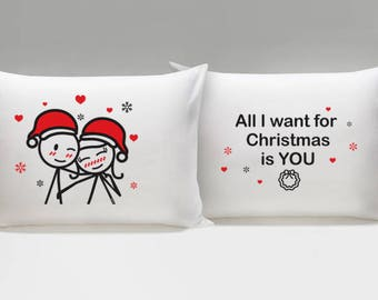 Gifts for Couples Christmas Couple Pillowcases Boyfriend Christmas Gift Girlfriend Christmas Gift Wife Christmas Gift Husband Christmas Gift