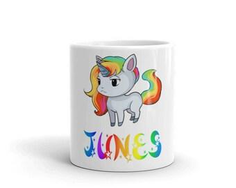 Junes Unicorn Mug